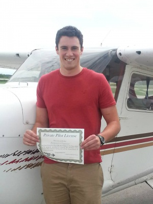 Ben Chapman Licenced Private Pilot licence