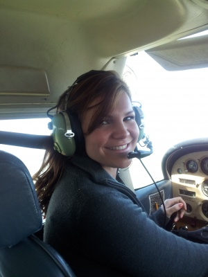 Discovery Flight Student behind the controls